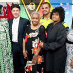 Minister for Communities Victor Dominello, Nellie Enares and her board ASSI-PJ 2012.