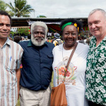 Hon Ralph Regenvanu, Chief Richard, Emelda Davis, Prof Clive Moore Vanuatu 2013