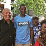 John Pilger (film UTOPIA) Shola Diop, Graham Mooney, Maria Carter 2014