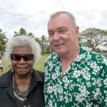 Mrs Bonita Mabo & Prof Clive Moore Vanuatu commemoration ceremony 2013