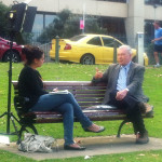 ABC Late Line reporter Charmaine Ingram intv's Prof. Clive Moore 2013