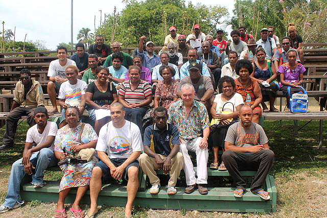 Workshop delegates on final day at Solomon Islands National Museum 2014