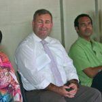 Lord Mayor Lorraine Pyfinch, MP Jack Dempsey, Hon Ralph Regenvanu