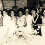 left to right: unknown, Phyllis Cavanaugh, Dorrie Terare, Phyliis Corowa, Kath Williams-Lena, Joyce Slockee, Ivy Dodds, Rita Dodds, Dorrie Hall, Norma Appo, Maude Slockee, Bertha Hamilton, unknown.