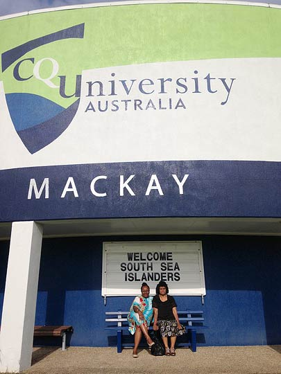Emelda Davis & Shireen Malamoo - Central Queensland University hosts Wantok Mackay 28-31 March 2014