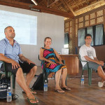Descendants Danny Togo, Leona Byquar, Zac Wone, and Prof. Clive Moore at workshop
