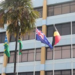 Australian flags fly in honour of workshop descendants